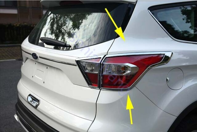 Rear Taillight Cover Trim For 2017 2018 Ford Escape Kuga Lamp Abs Chrome