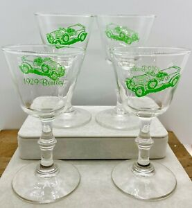 Vintage-1929-Bentley-Stemmed-Cordial-Glasses-by-Northwestern-Bottle-Co-Set-of-4
