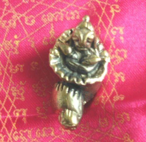 Phra UpaKut charm Call windfall money protection Buddha Thai Talisman Amulet