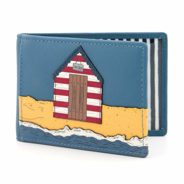 Lazy Daze Blue Leather Travel Pass / Oyster Card Holder by Yoshi
