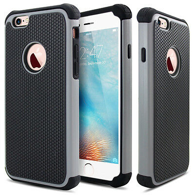 Heavy Duty Hybrid Shockproof Rugged Rubber Outter Hard Cover Case for iPhone