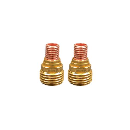 "2-pk 45V42 .040/"" TIG Collet Body Gas Lens for Welding Torch 9//20//25"