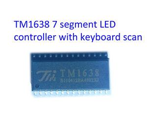 TM1638-SOIC-28-arduino-8-digit-7-segement-LED-driver-keyboard-scan-SPI-interface