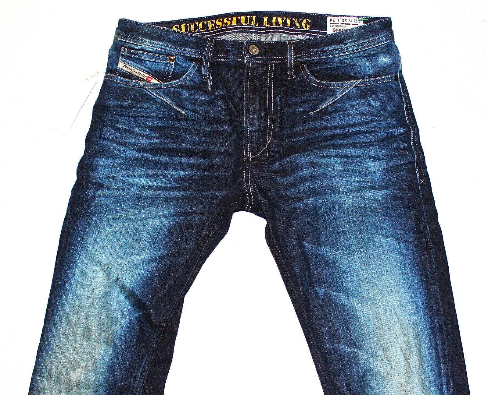 BNWT DIESEL SHIONER 880W JEANS 30X34 100% AUTHENTIC SKINNY FIT FIT FIT TAPErot LEG 192dfb