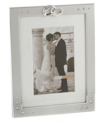 Rings and Crystals Wedding Photo Frame 6 x 4 * Gift *