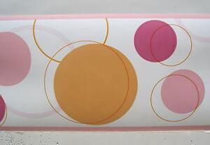 Image is loading CIRCLES-LOTS-OF-CIRCLES-MODERN-RETRO-wallpaper-border-