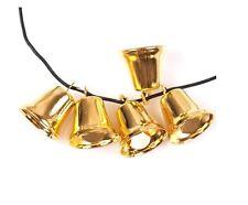 5 CAMPANE DORATE addobbi natale campanelle oro decorazione albero festa sonagli