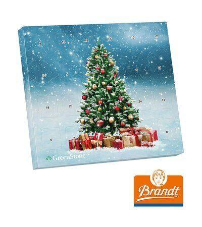 Adventskalender Knusperkugel 24 Brandt Knusperkugeln Motiv Weihnachtsbaum