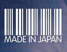Strichcode Japanisch JDM Neuheit Vinyl Auto/Van/Fenster/Stoßstangenaufkleber