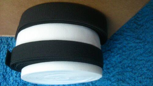 13mm white /& 14mm black bra strapping elastic FREE UK P/&P 12mm black 6mm white