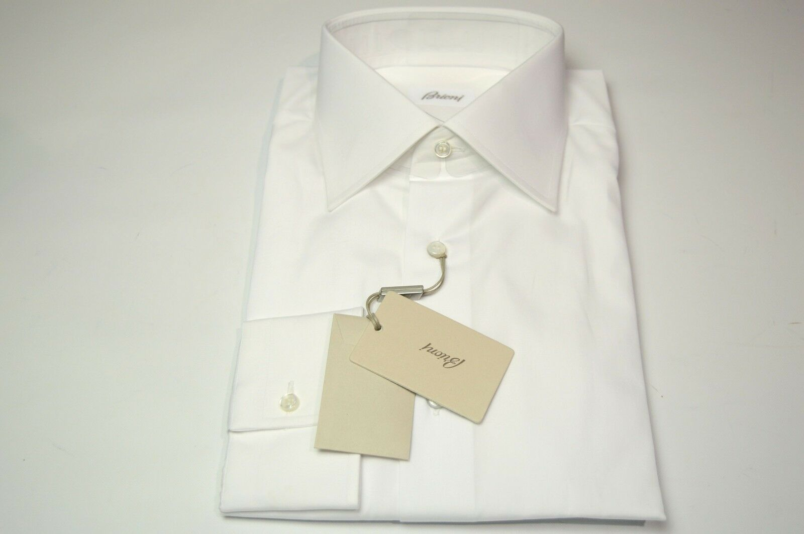 NEW  BRIONI Dress  hemd 100% baumwolle Größe 16 Us 41 Eu  (ARA51)