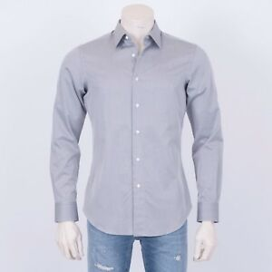 BRIONI-595-Authentic-New-Gray-Cotton-Formal-Comfort-Shirt