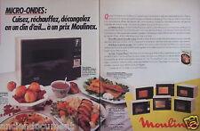 PUBLICITÉ 1985 MOULINEX MICRO-ONDES CUISEZ RÉCHAUFFEZ DÉCONGELEZ - ADVERTISING