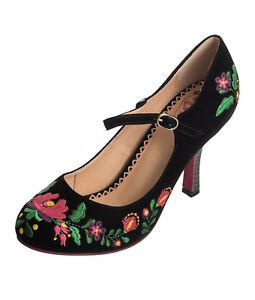 e8633d7b9dcf67 Danse Jours par Banned Kalocsai Floral Années 40 50 Vintage à Pois ...