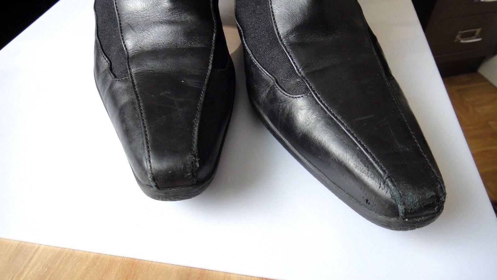 Original PRADA STIEFEL BOOTS Schuhe 37,5 schwarz black Shoes Gr. 37,5 Schuhe designer 8b6086