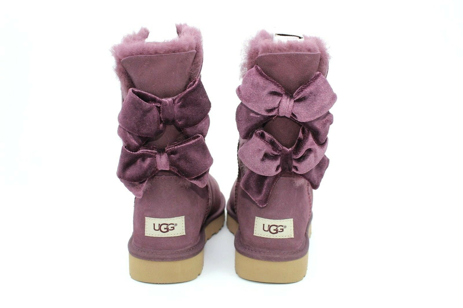 15782ec1d4a UGG Bailey Bow II Velvet Ribbon Boot Port Color Size 9 US Very RARE