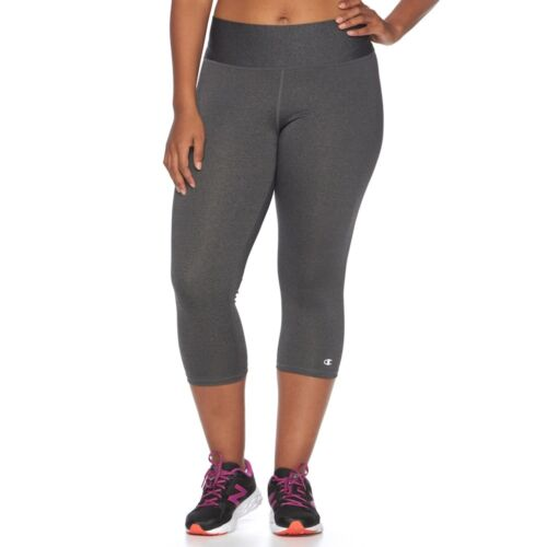 CHAMPION Womens PLUS Absolute Tight Fit Gray Capri LEGGINGS  4X  NWT
