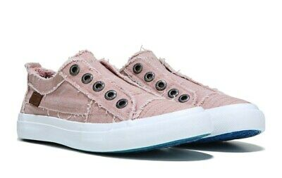 Hook and Loop Sneaker Shoes Women/'s Blow Fish Malibu Waffle Denim Blue