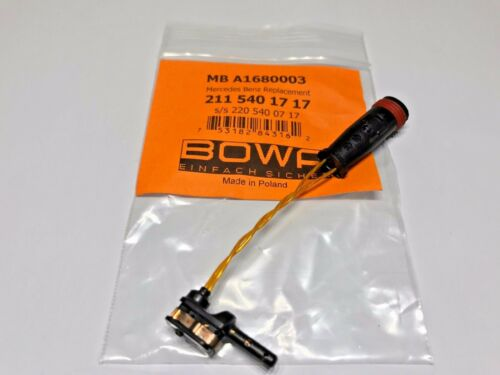 2115401717 Mercedes W211 Font /& Rear Brake Pad Wear Sensor 1 Only OEM BOWA