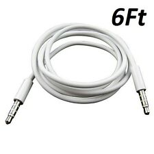 6FT 3.5mm Auxiliary Aux Male to Male Stereo Audio Cable Cord For iPod Car MP3 PC