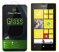 Dmax Armor® Nokia Lumia 520 Tempered Glass Screen Protector Saver Shield