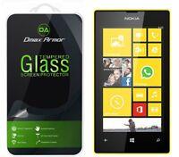 Dmax Armor® Nokia Lumia 520 Tempered Glass Screen Protector Saver Shield