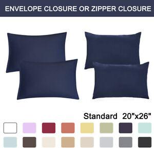 2-Pcs-Standard-Pillowcases-Soft-1800-Microfiber-Pillow-Case-Covers-17-COLORS