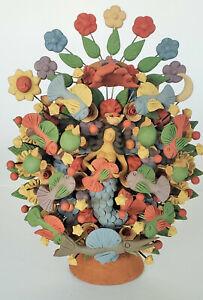 Amazing-miniature-Asael-Castillo-Mexican-folk-art-tree-of-life-Metepec-Mermaid