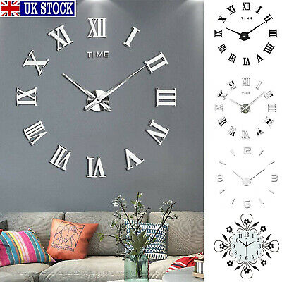 Home Garden 3d Diy Extra Large Roman, Large Mirror Wall Stickers Uk