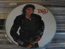 MICHAEL JACKSON LP BAD PICTURE DISC MINT GREEN COLORED BACK PROMO NFS NO BARCODE