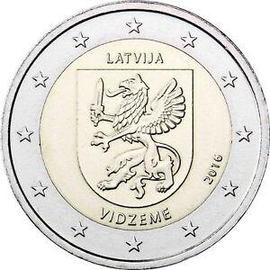 Lettland 2 Euro Münze 2016 bfr Regionen Serie Vidzeme Zentral Livland