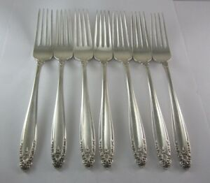 Prelude by International Silver Sterling Silver Fork  measures 7 1//4 inch