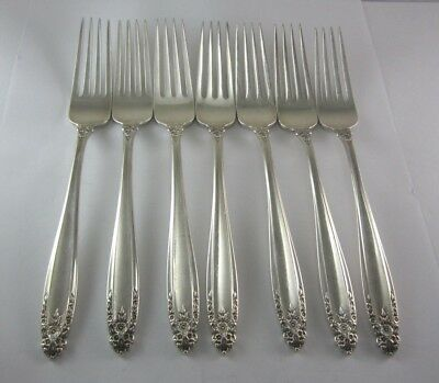 "Genuine International Sterling Silver Prelude Dinner Fork Silverware 7 1//4/"" Inch"