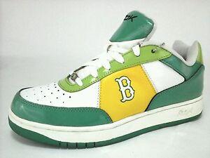 BASEBALL RBK White/Green/Yellow SHOES  BENTLEY BOSTON.  Game kicks. US 10.5 M