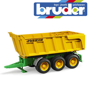 Bruder-Joskin-Tipping-Trailer-Kids-Farm-Toy-Farming-Accessory-Model-Scale-1-16