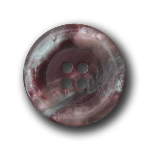 z048li 5 traumhaft schöne lila rosa hellblau türkis Kunststoff Knöpfe