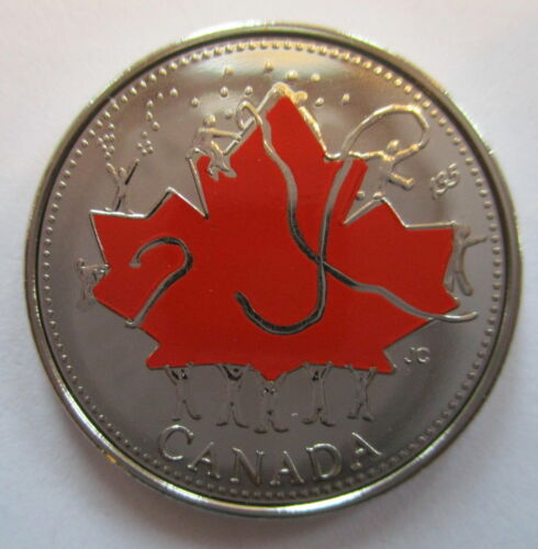 SALE 2002 Coloured Canada Quarter Sealed from the Mint