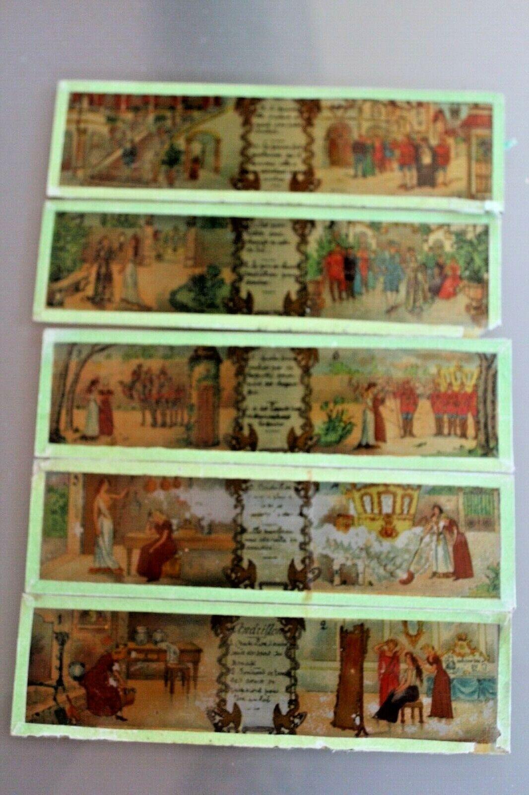 Lote 5 Placas Cristal para Farolillo Mágica  Cenicienta  1900