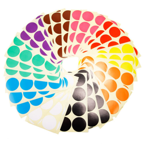 240 x 50mm Runde Punktaufkleber Farbkodierung Etiketten Markierungspunkte Büro