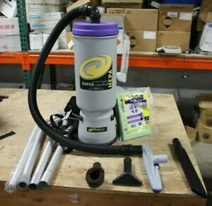 ProTeam-Super-Coach-Backpack-Vacuum-W-4-Attatchments-4-Extension-Pipes-Bags