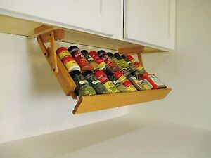 Image Is Loading Under Cabinet Spice Rack By Ultimate Kitchen Storage