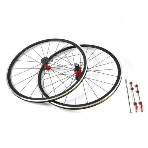 700C Ultra Light Road Bike Wheel Front Rear Wheelset Aluminum Rim Deep C//V