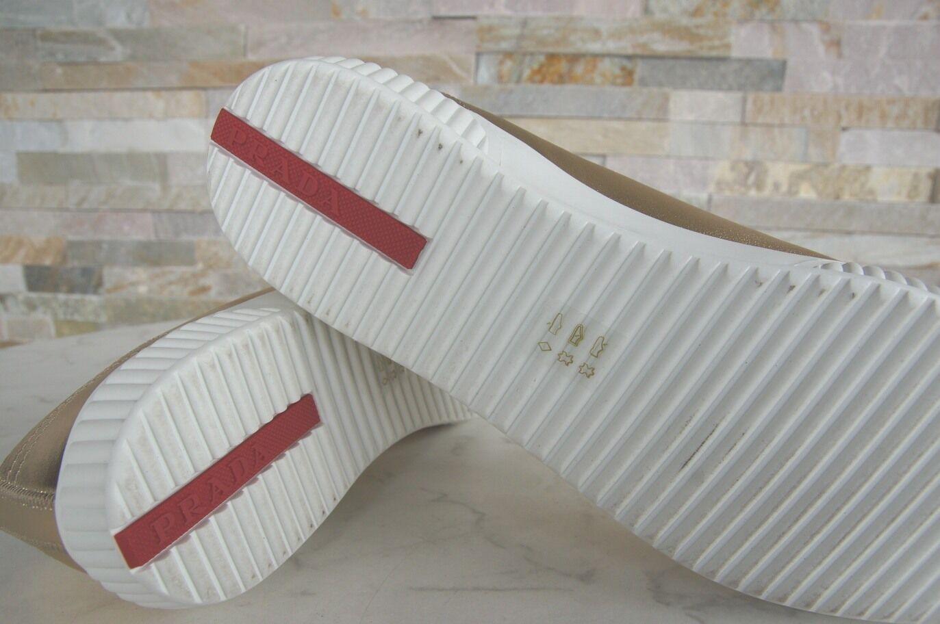 sale retailer 6be11 55881 ... PRADA TAGLIA TAGLIA TAGLIA 39 SNEAKERS normalissime scarpe 3e5876 Pelle  Agnello PLATINO NUOVO UVP 1177b5