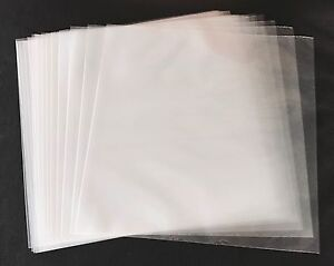100-Clear-Poly-Plastic-LP-Outer-Sleeves-3-Mil-12-034-Vinyl-33rpm-Record-Album-Cover