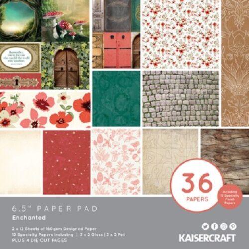 "Kaisercraft /'ENCHANTED/' 6.5/"" Paper Pad Toadstools//Fairies KAISER PP1072"