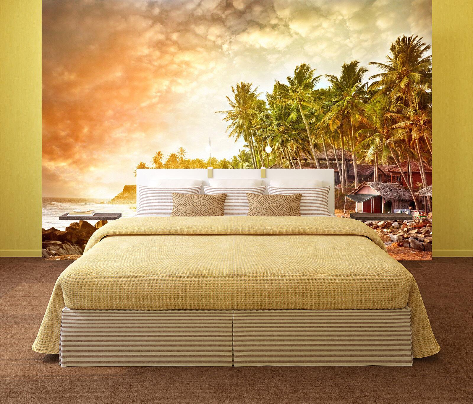 3D Sonnenschein Insel Coco 8393 Tapete Wandgemälde Tapeten Bild Familie Familie Familie DE Lemon | Wir haben von unseren Kunden Lob erhalten.  | Good Design  |  cd8133
