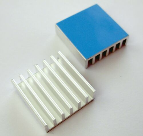 4x Heat Sink with adhesive 4x Dissipateur thermique radiateur adhesif 20x20x6mm