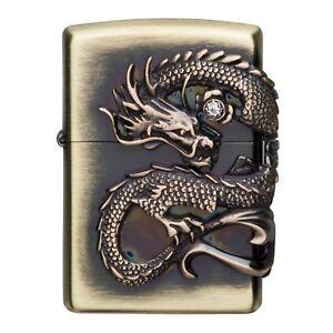 Zippo-Dragon-Bella-Design-Giapponese-Collezione-F-S-Rilevamento-Raro-Nuovo
