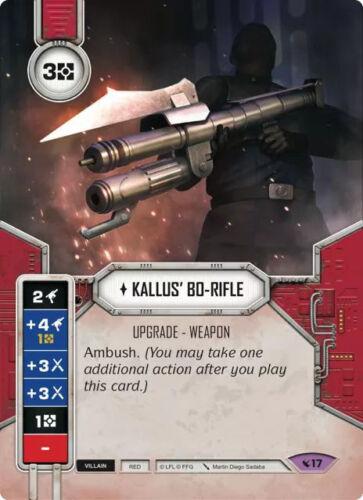 x1 Kallus' Bo-Rifle 17 Legendary Star Wars Destiny Legacies M/NM Losse kaarten spellen kaartspellen