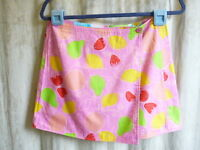 Lilly Pulitzer Reversible Skirt 2 Violet Marzipan/rainbow Patchwork Print